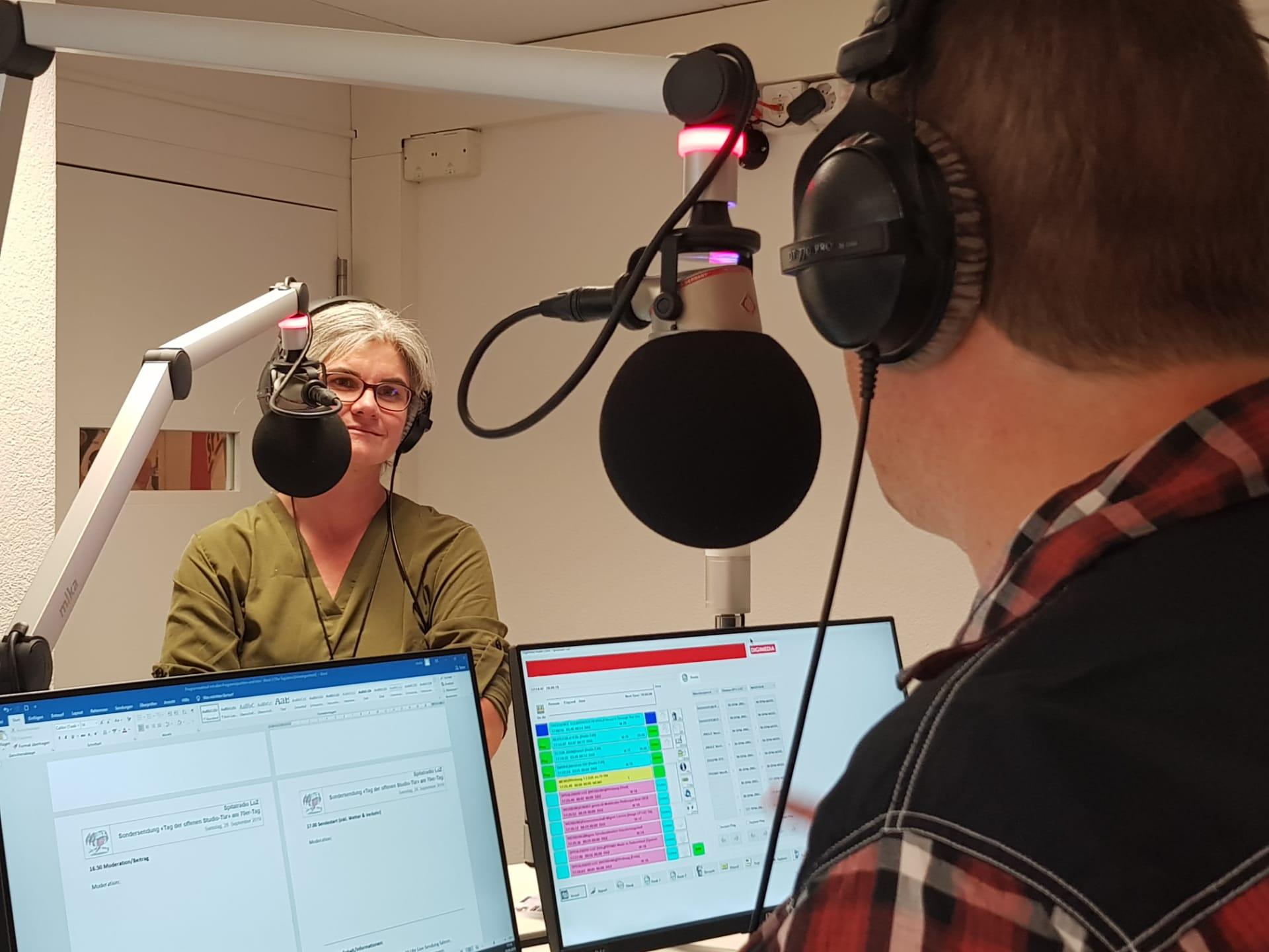 Priska Hafner (Nationalratskandidatin Luzern) im Studio