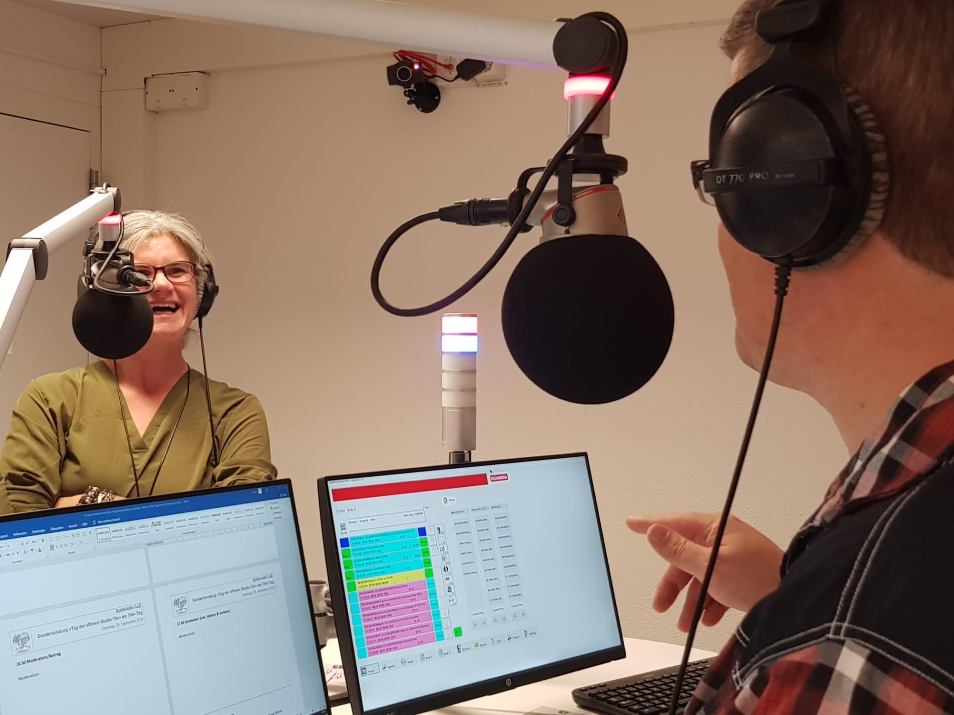 Priska Hafner und Marco Hutschenreuther im Studio