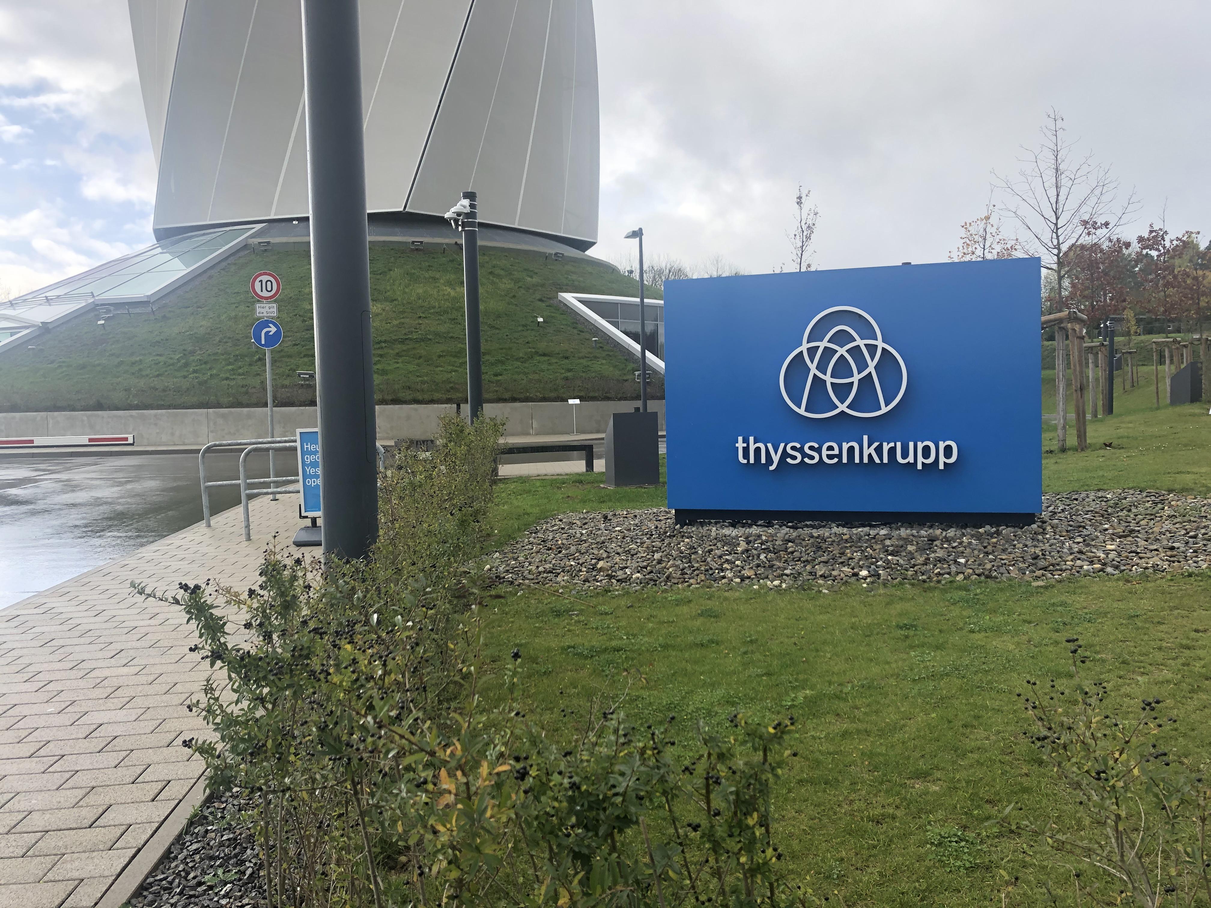 ThyssenKrupp ist für den Testturm verantwortlich